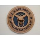 US Air Force Veteran Afghanistan Plaque