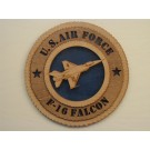 US Air Force F-16 Falcon Plaque