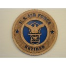 US Air Force Retired Plaque