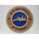US Air Force F-15 Eagle Plaque