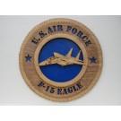 US Air Force F-15 Eagle Plaque