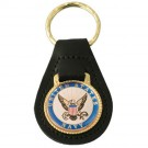 U.S. Navy Leather Key Fob