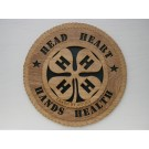 4 H Head Heart Hands Health Plaque