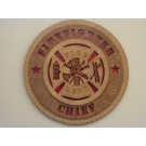 Firefighter Chief Plaque
