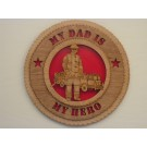 Firefighter Dad Plaque