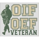 OIF OEF Veteran with Soldier Decal