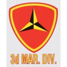 Marines 3rd Division Decal