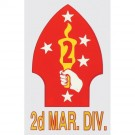 Marine 2nd Division Decal