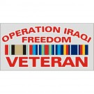 Operation Iraqi Freedom Veteran with Ribbon Decal