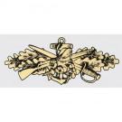 Seabee Combat Warfare Gold Decal