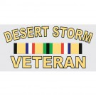 Desert Storm Veteran with Ribbon Decal