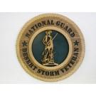National Guard Veteran Desert Storm Plaque