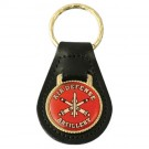 Air Defense Artillery Leather Key Fob